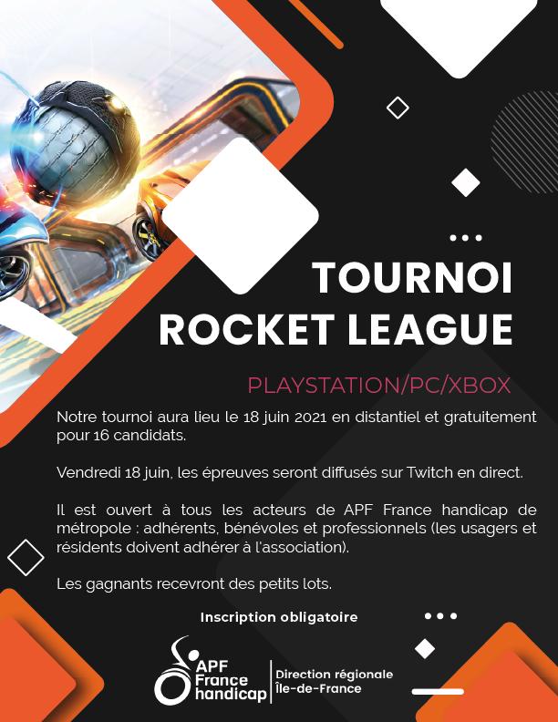affiche tournoi rocket league