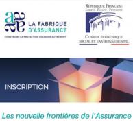"""Visuel pour Colloque """"Les nouvelles frontières de l'assurance"""""""