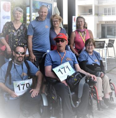 photo de participants au Run & Trail APF France handicap édition 2020